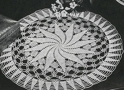 Whirl-a-Way Doily Pattern #7560