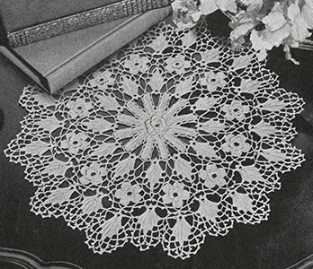 Irish Crochet Doily Pattern #7575