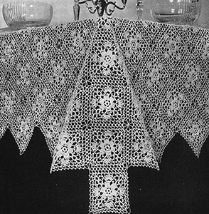 Memory Lane Tablecloth Pattern #7486