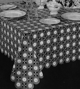 Page Polka Dots Tablecloth Pattern #7526