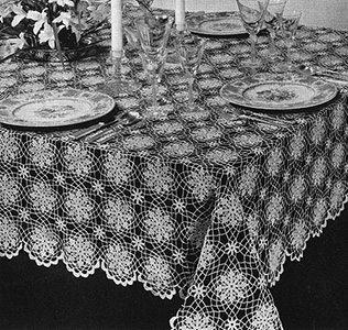 Summer Snowflake Tablecloth Pattern