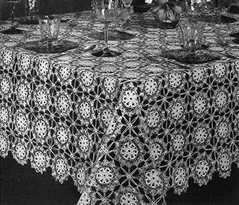 Flower Fable Tablecloth Pattern #7591