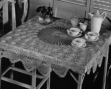 Pineapple Tablecloth Pattern #7592