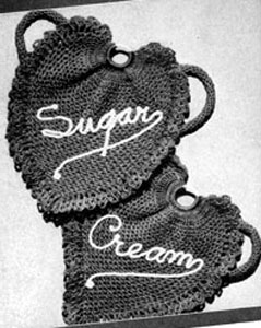 Sugar and Cream Potholders Pattern #9346