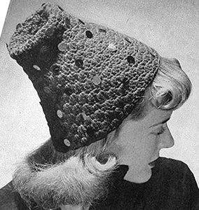 Hat with Various Trimmings Pattern #1153