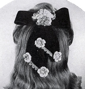 Bow and Flower Hair-Do Pattern #1162