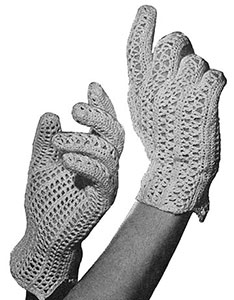 Crocheted Gloves Pattern #1167