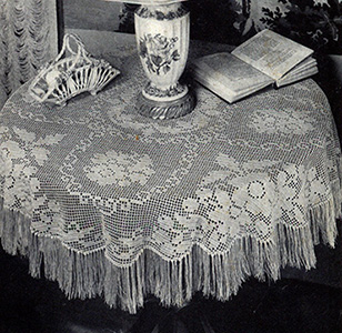 Queen Victoria Tablecloth Pattern #7607
