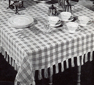 Chequers Tablecloth #7616 Pattern