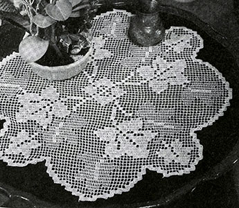 Grape Arbor Doily Pattern