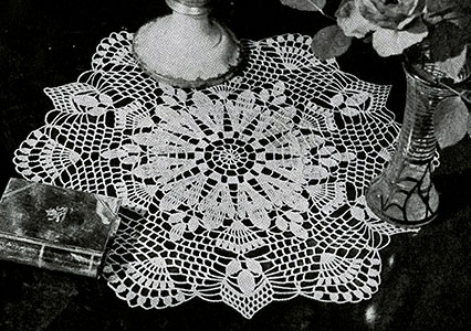 White Sapphire Doily Pattern