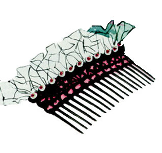 Satin & Sequins Comb Pattern
