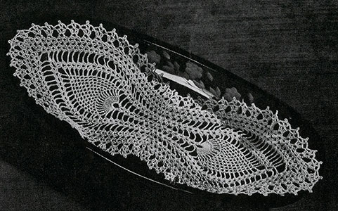 Bread Tray Doily Pattern #7772