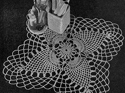 Cloverleaf Doily Pattern #D-115