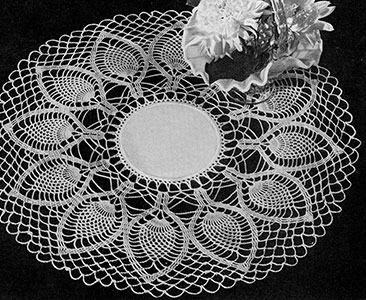 Palm Fronds Doily Pattern #D-117