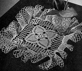 Pineapple Trellis Doily Pattern #D-120