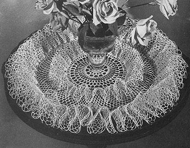 Rose Ruffle Doily Pattern #D-130