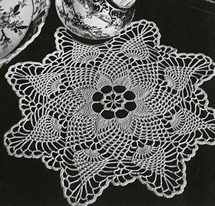 Pineapple Points Doily Pattern #PD-424