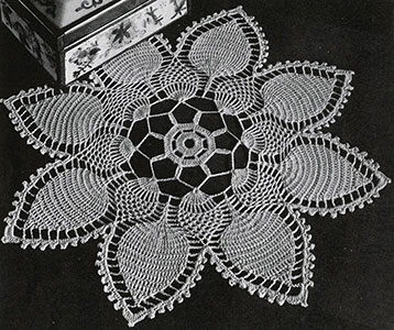 Pineapple Petals Doily Pattern #PD-425