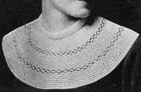 Double Crochet and Knot Stitch Collar Pattern #43
