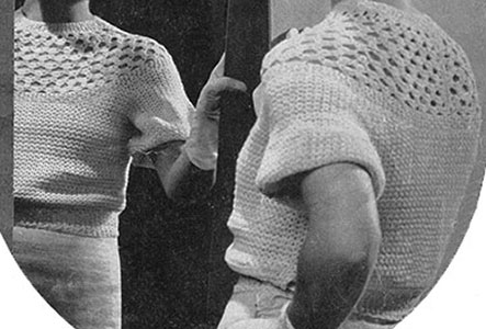 Free Vintage Crochet Yoke Patterns : Lace Yoke Blouse Pattern #5 Crochet Patterns