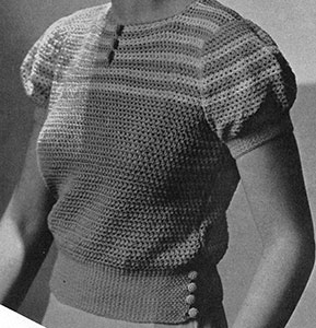 Striped Yoke Blouse Pattern #7