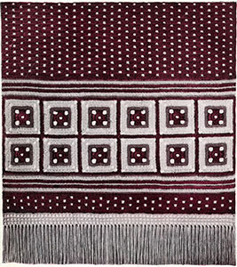 Table Runner with Crossed Squares Pattern #233