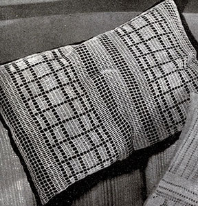 Modern Filet Crocheted Pillow Top Pattern #242