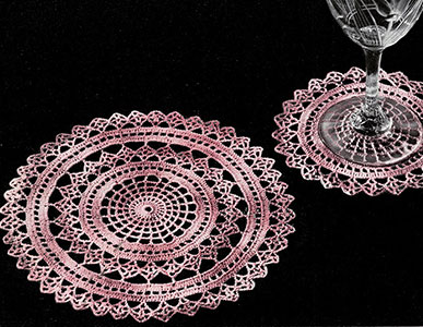 Spider Web Doily Set Pattern #420