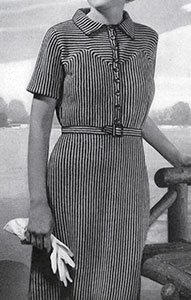 Crocheted Shirtwaist Dress Pattern #108
