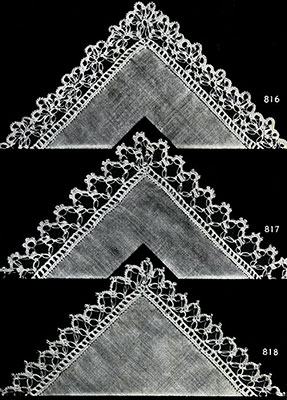 Handkerchief Edging Patterns #816-818