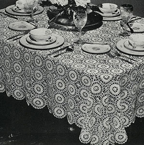 The Star Wheel Tablecloth Pattern #744