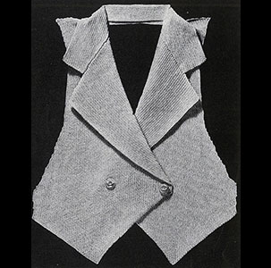 Tailored Vest Pattern #118