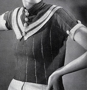 Parisian Striped Blouse Pattern #121