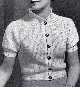 Crocheted Barette Stitch Blouse Pattern #122