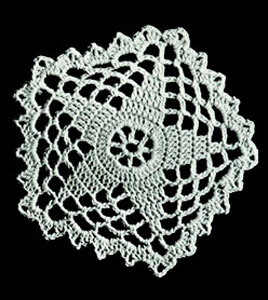 Five Point Star Doily Pattern #765