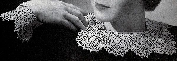 Irish Crochet Collar and Cuffs Pattern #2021