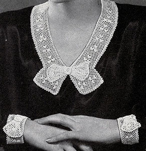 Irish Rose Collar and Cuffs Pattern #2032