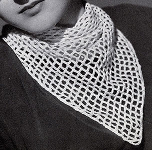 Triangular Chain Mesh Scarf Pattern #214