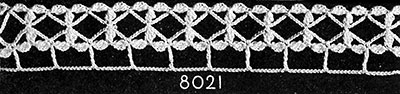 Lattice Lane Edging Pattern #8021