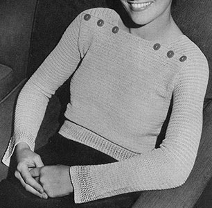 Leisure Hour Sweater Pattern #173