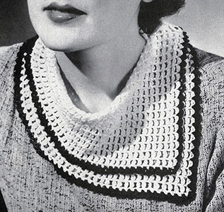 Scarf Collar Pattern #2099