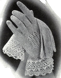 Crochet Gloves with Irish Cuffs Pattern #284