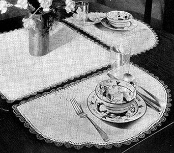 Half Moon Luncheon Set Pattern
