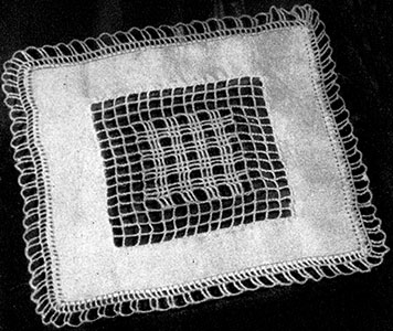 Square Doily with Crochet Inset Pattern