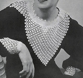 Clover Stitch Collar and Cuffs Pattern #2129