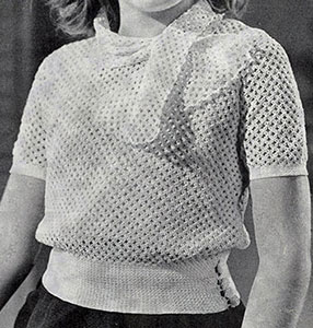 Butterfly Mesh Blouse Pattern