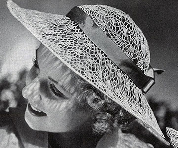 Sunlight Hat Pattern #2100