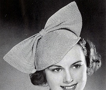 Bow Hat Pattern #2166