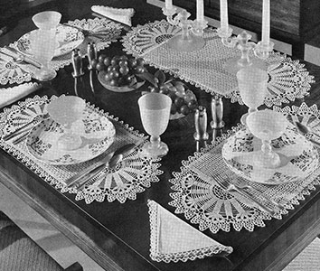 Sunset Luncheon Set Pattern #7018
